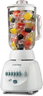 Black & Decker BL10450H Crush Master 10-Speed Blender with 42-Ounce Glass Jar, White
