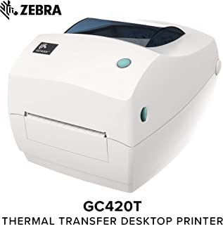 Zebra - GC420t Thermal Transfer Desktop Printer for labels, Receipts, Barcodes, Tags, and Wrist Bands - Print Width of 4 in - USB, Serial, and Parallel Port Connectivity - GC420-100510-000
