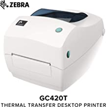 Zebra - GC420t Thermal Transfer Desktop Printer for Labels, Receipts, Barcodes, Tags, and Wrist Bands - Print Width of 4 in - USB, Serial, and Parallel Port Connectivity