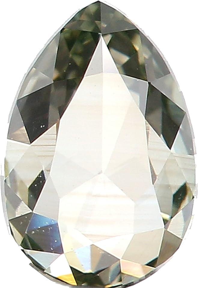 0.53 CT Natural Loose Diamond, Pear Diamond, Green Diamond, Rustic Diamond, Pear Cut Diamond, Fancy Color Diamond L9991