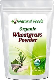 Organic Wheatgrass Powder - 100% Pure, Raw, Non-GMO, Vegan - Amazing Green Superfood For Smoothie, Juice, Shakes, Shots, & Recipes - 6 oz