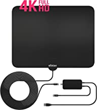 [UPDATED 2019] Digital Amplified Indoor HD TV Antenna 80-120 Miles Professional Version All Older TV's for Indoor Amplified Digital TV Support 4K 1080P Amplifier Signal Booster and 15FT Coaxial Cable