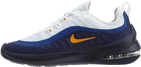 Nike Men's Air Max Axis Sneakers, White/Orange Peel-Deep Royal Blue