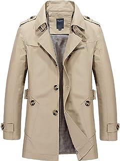 WHATLEES Heren winter jas shirt trenchcoat