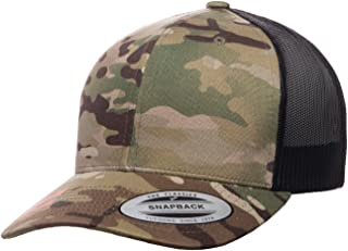 Yupoong Retro Trucker Hat & 2-Tone Snapback - 6606, by Flexfit (Adjustable, Multicam Camo)