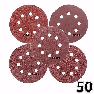 Jeteven 50 Pcs 5 Inch PSA Sanding Discs,Sanding...