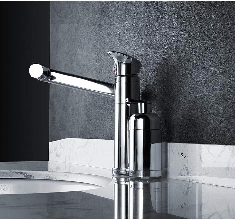 JONTON Bad Kupfer Badezimmer einlochbecken warm und kalt drehenden waschbecken Wasserhahn