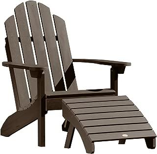 Highwood AD-KITCLAS3-ACE Adirondack Chair with Ottoman, Weathered Acorn