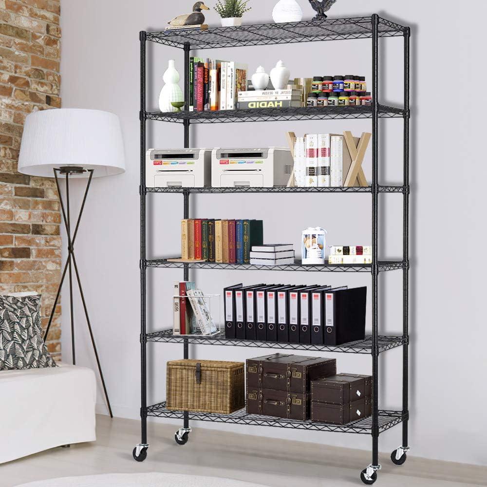 6 Tier Wire Shelving Storage 2020春夏新作 Units Standing Shelf Metal 店内限界値引き中&セルフラッピング無料 NS