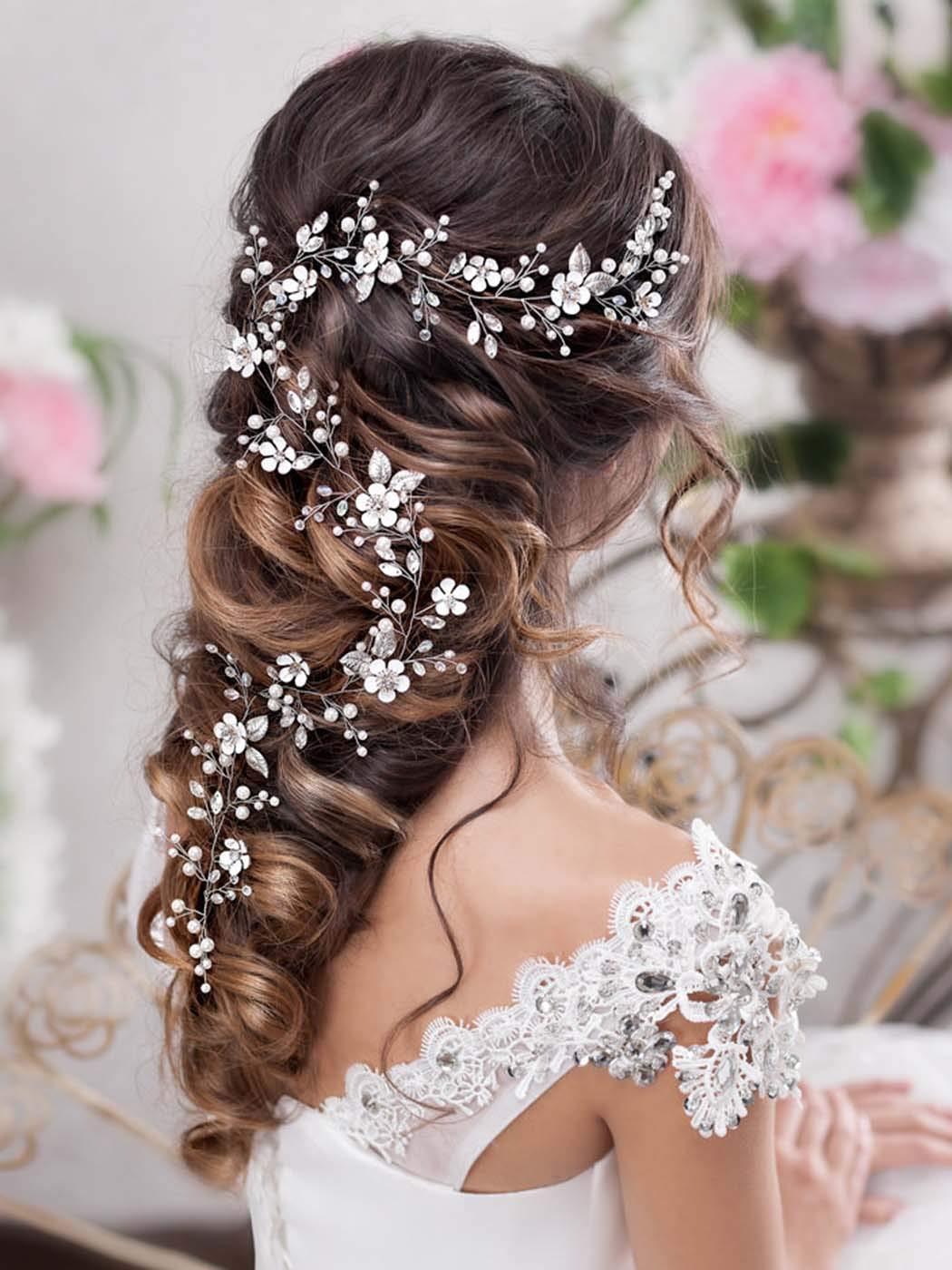 Barogirl Ranking TOP2 Bride Wedding Directly managed store Headband Flower Bridal Hair Vine Crystal
