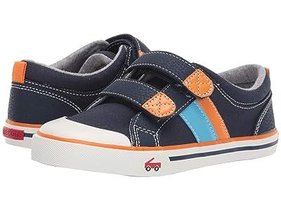 See Kai Run Kids Russell (Little Kid) (Navy/Orange) Boys Shoes