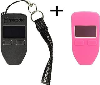 Trezorハードウェア財布(ホワイト) +ボーナスprotectingcoinケース/スキン