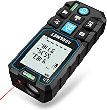 Laser Measure, Acegmet 229Ft M/In/Ft Laser Distance Measure Backlit LCD with Mute Function, Measure Distance, Area and Volume, Pythagorean Mode Laser Measuring Device with 2 Bubble Levels