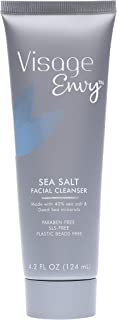 Visage Envy Salt Face Cleanser - Dead Sea Salt Gentle Exfoliating Facial Scrub Enriched with Energizing Multi-Minerals Technology - Paraben-Free SLS-Free Plastic Bead Free - All Skin Types 4.2 Ounce