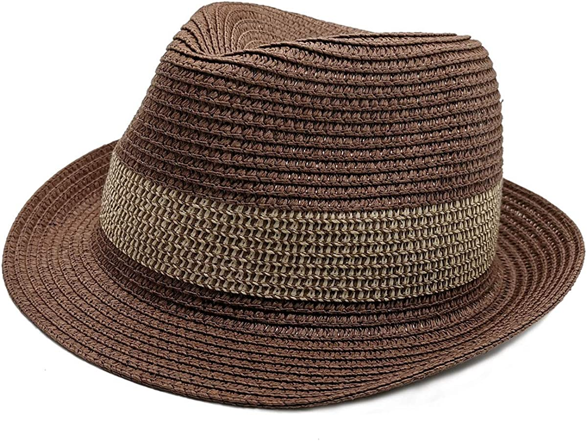 snailman Womens Mens Unisex Straw Hat, Brim Panama Beach-Fedora Summer Travel Sun Hat, Hawaii Holiday Lovers Hat