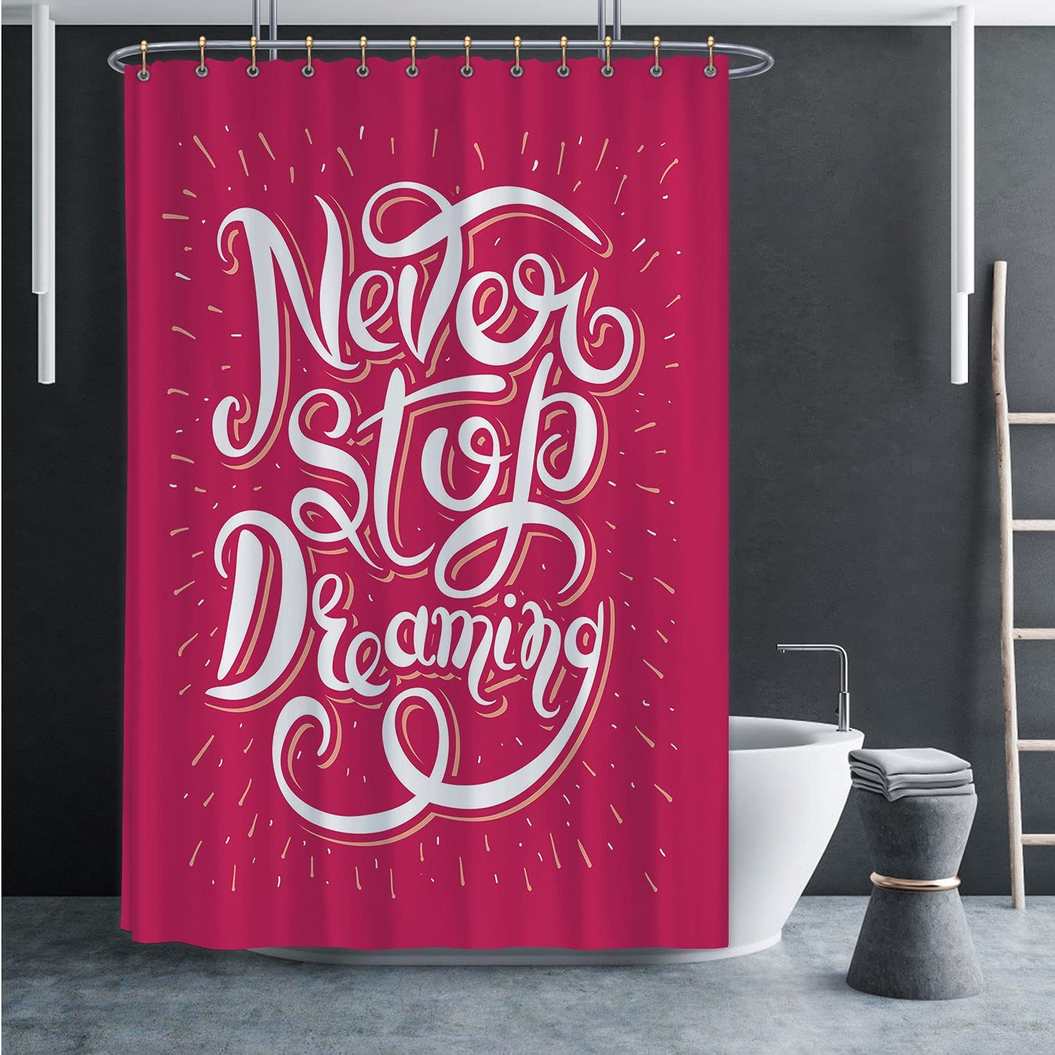 Never Stop Dreaming Popular brand in the world Inspirational Text Motivational Re Limited price sale on Poster