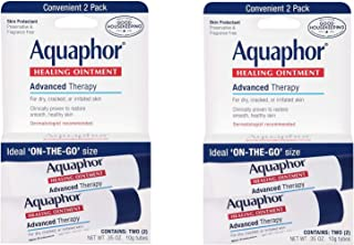 Aquaphor Advanced Therapy Healing Ointment Skin Protectant to Go Pack, 0.35 Ounce, 4 Tube Pack