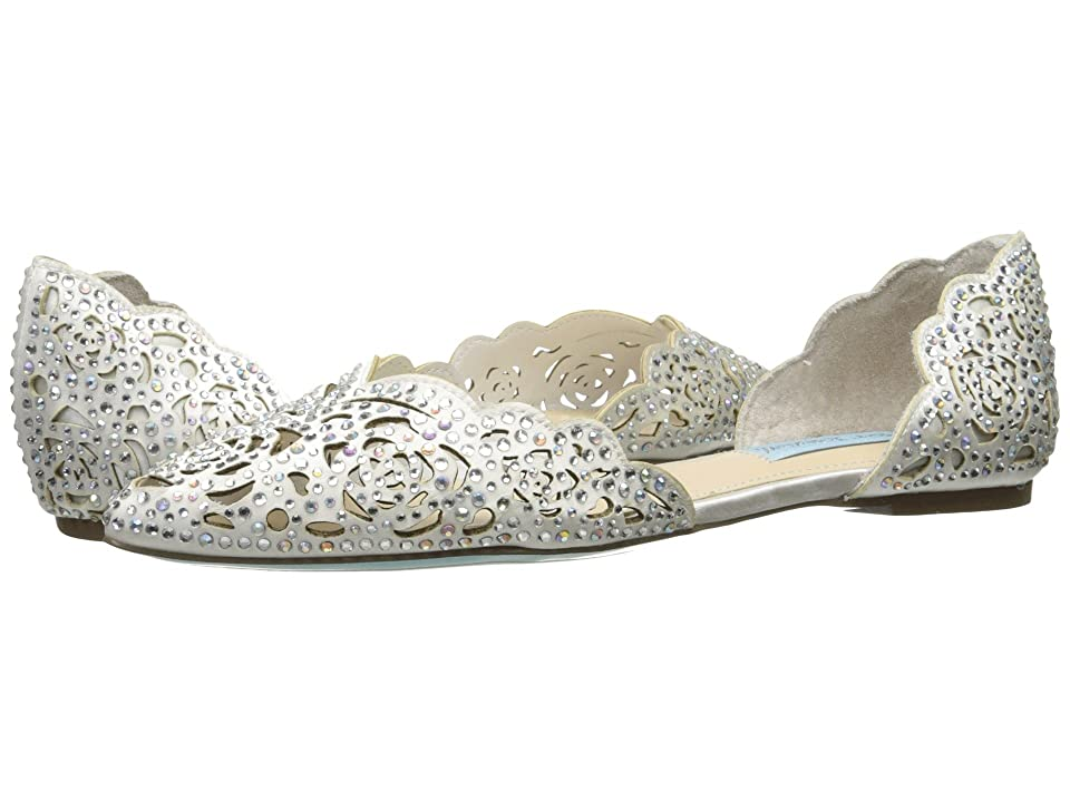 Blue by Betsey Johnson Lucy (Ivory Satin) Women