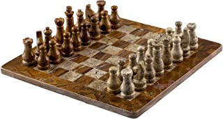 """Marble Chess Set - 16"""" by 16""""   Beautiful Marble Chess Pieces & Board for Two   Classic Adult Handmade Set   Chess: The Best 2-Player / Multiplayer Strategy Game - Otomi"""