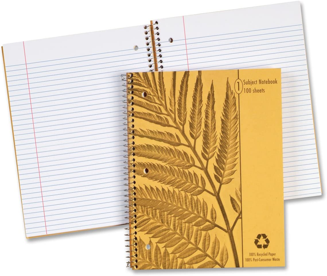 Ampad Envirotec 1 Subject Bombing free shipping Notebook with Ruled Li College Margin At the price