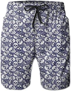 Men Swim Trunks Beach Shorts Thriving Nature Themed Flora and Foliage with an Inspiring Slogan