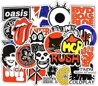 Pegatinas De Coche [50 Piezas], Pegatinas Portátiles Motociclismo De Bicicleta Consigna De Equipaje Graffiti Parches Pegatinas Para Ordenador Portátil [paquete De Pegatinas No Duplicados (música Rock)