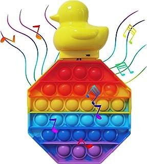 joyee&elephant Music Push Pop Bubble Sensory Fidget Toy, Rainbow Pop Fidget Toys, Electronic Music Sound Fidget Toy Duck, ...