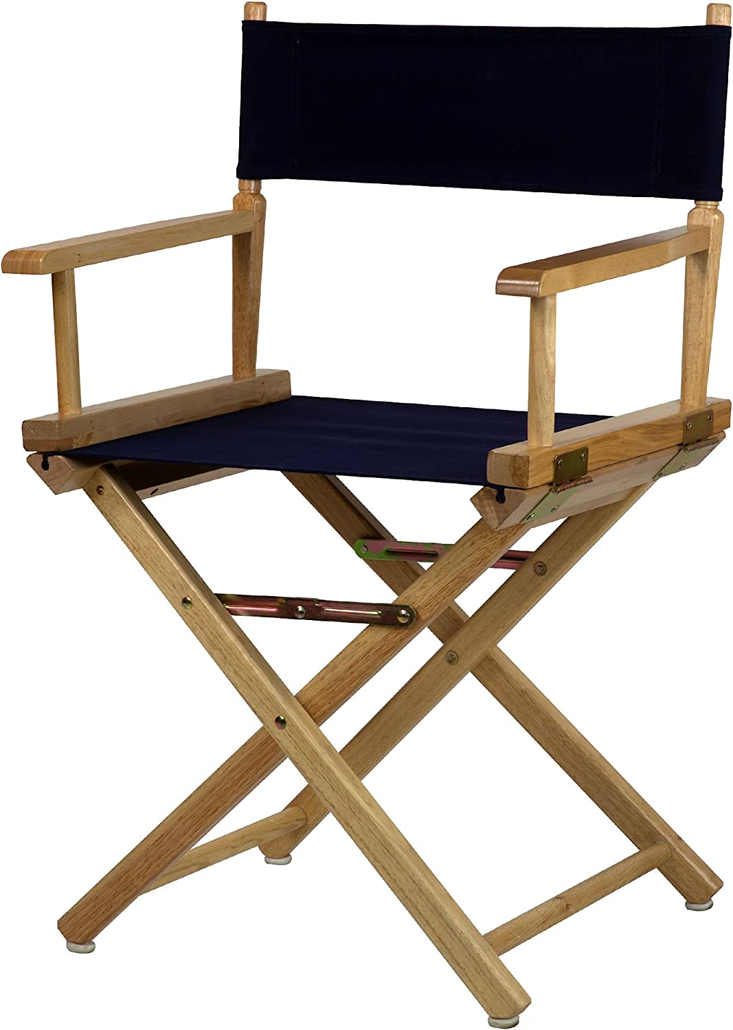 Casual Home 18-Inch Director Chair Natural Frame, Navy bluee Canvas