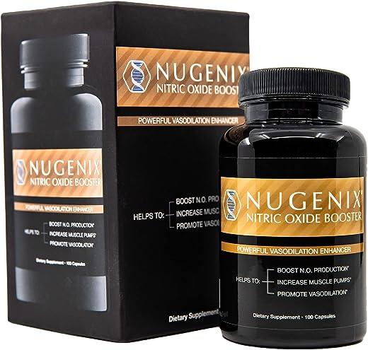 Nugenix Nitric Oxide Booster Supplement - L-Arginine, L-Citrulline, Beet Extract, Pine Bark Extract - Vasodilator - 100 Capsules