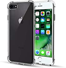 TGOOD Case for Apple iPhone 7, iPhone 8, iPhone 9, Shock-Absorption Bumper Cover, Anti-Scratch Crystal Clear Back, Ultra Slim Soft Silicone TPU iPhone 7/8/9 Phone Case 4.7 inch, HD Clear