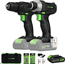 20V Max 2 speeds Drill Driver and Impact Driver Combo Kit, GALAX PRO Cordless Drill..