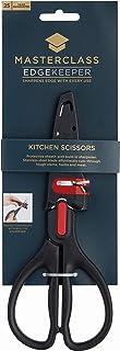 MasterClass EdgeKeeper Kitchen Scissors with Sharpener Sheath, Stainless Steel, 22 x 9 cm