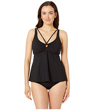 Miraclesuit Amoressa by Miraclesuit Put a Ring On It Kelly Tankini Top (Black) Women