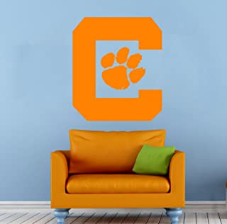 Clemson Tigers Wall Art Decal Sticker NCAA College Football Home Interior Removable Decor (30