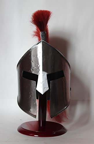 Decor&Style Medieval Wearable 300 Leonidas Spartan Helmet with rouge Plume Libre Liner Ritter