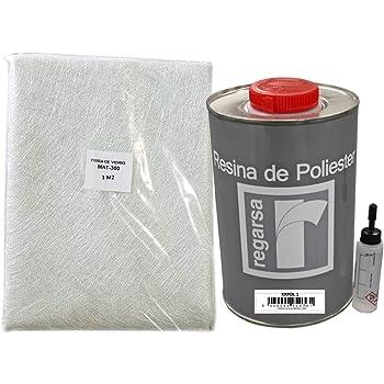 pipette RESINE POLYESTER 2kg 3m² de MAT 225g pinceau. + 60g catalyseur