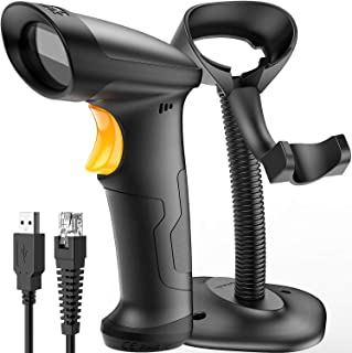 Barcode Scanner, Inateck USB Barcode Scanner with Stand, 1D Wired, BCST-33