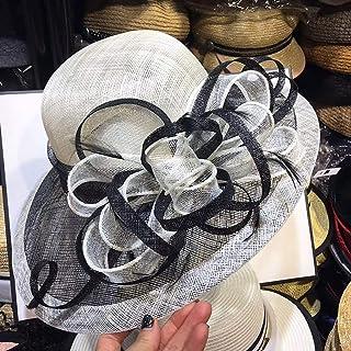 Large Wide Brim Sun Hat Summer UV Hat Women Organza Church Hats For Women's Tea Party Cap Ladies Wedding Hat Summer Holida...