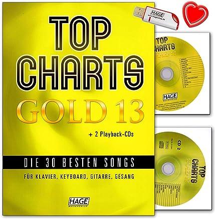 Top Charts Gold 13 - Libro de canciones para piano, teclado y guitarra (con