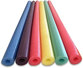 Oodles of Noodles Deluxe Foam Pool Swim Noodles - 6 Pack Asst 52 Inch Wholesale Pricing Bulk Pack and Free Connector
