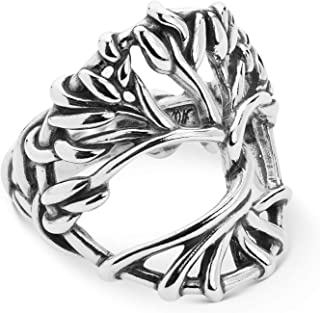 Sterling Silver Twisted Vine Tree of Life Ring Size 5 to 10