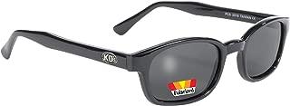 Pacific Coast Original KD's Polarized Biker Sunglasses (Black Frame/Dark Grey Lens)