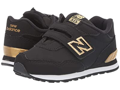 New Balance Kids 515v1 Classic (Infant/Toddler) (Black/Gold Metallic) Girls Shoes