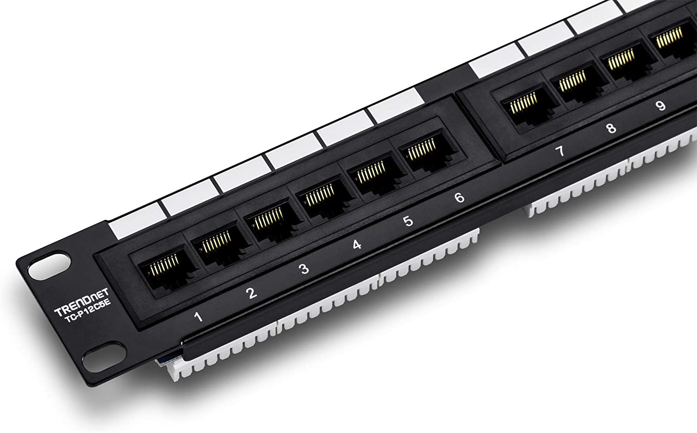 TRENDnet Japan Maker New 12-Port Cat5 5e Very popular Unshielded TC-P12C5E Wall Panel Patch