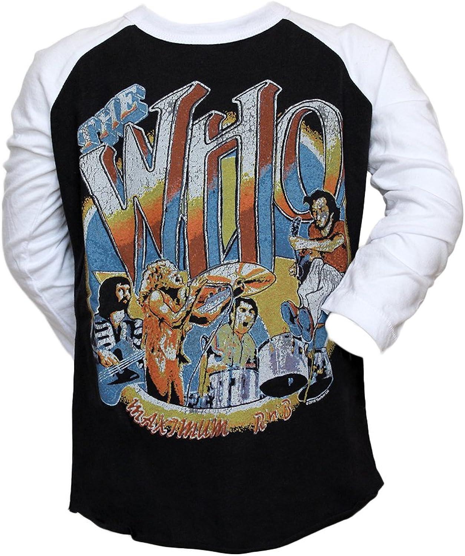 Junk Food Little Boys' The Who 1968 Tour Raglan Tee