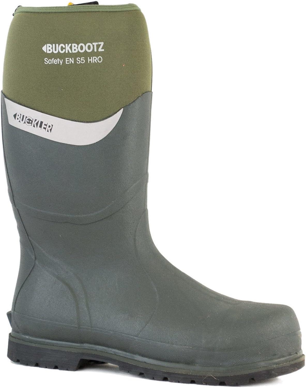 Bucklar Bucklar Bucklar Buckbootz S5 BBZ600GR Grön Säkerhet Wellington stövlar - UK 5 (EU39)  den mest fashionabla