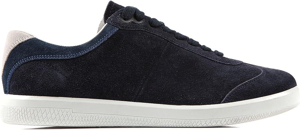 Prada scarpa sneakers uomo camoscio blu taglia 41 eu 4E2431