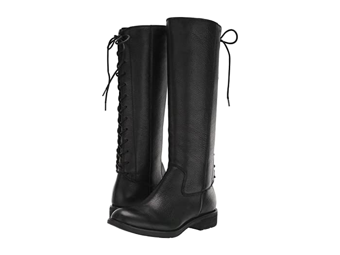 1930s Style Shoes – Art Deco Shoes Sofft Sharnell II Waterproof Black Waterproof Wild Steer Womens Lace-up Boots $199.95 AT vintagedancer.com
