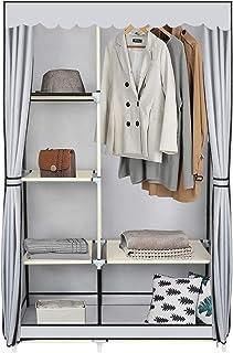 YOOKEA Armoire de Rangement, Penderie Tissu Oxford Lavable, Pliable, 170 x 105 x 45 cm, Gris