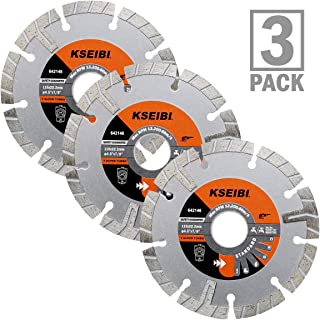 KSEIBI 642146 Premium Wet Diamond Saw Blade 4 1/2 Inch Turbo Rim T Type Tile Cutting Tools For Concrete Masonry Granite Porcelain Stone Ceramic Brick Cutting Wheels For Angle Grinder Tool (3)
